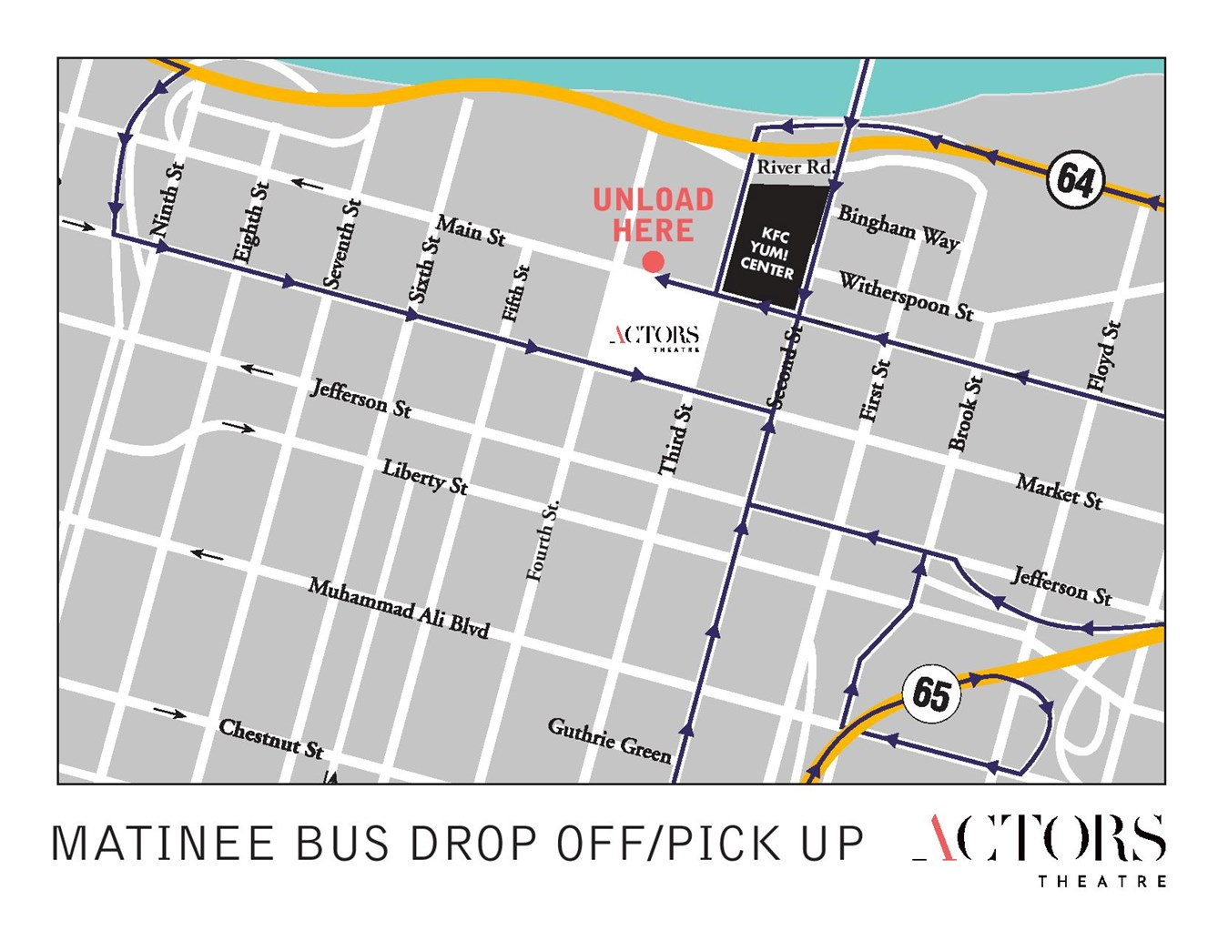 Student Matinee Bus Map